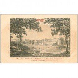 carte postale ancienne 92 RUEIL MALMAISON. Château Grande Serre chaude époque du Consulat. Publicité Maggi.