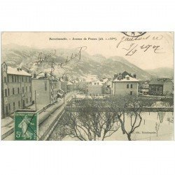 carte postale ancienne 04 BARCELONNETTE. Avenue de France 1907 (fine morsure coin droit)...