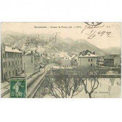 carte postale ancienne 04 BARCELONNETTE. Avenue de France 1907 (fine morsure coin droit)...