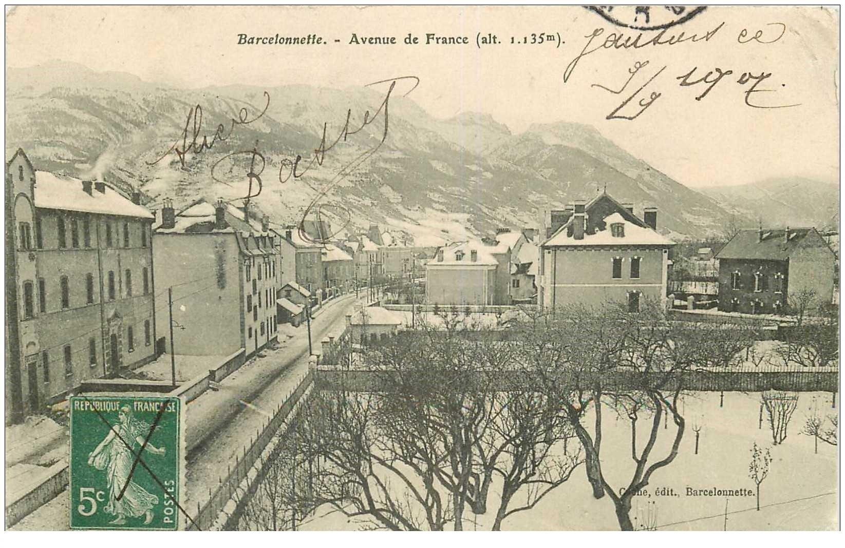 04 barcelonnette avenue de france 1907 fine morsure coin droit. Black Bedroom Furniture Sets. Home Design Ideas