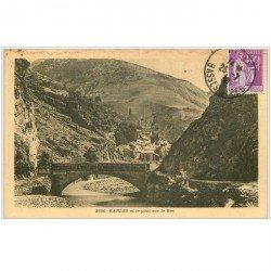 carte postale ancienne 04 BARLES. Le Pont sur le Bès 1938