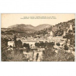 carte postale ancienne 04 CASTELLANE. Col de Lègue Route de Nice à Grenoble