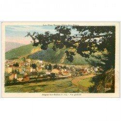 carte postale ancienne 04 DIGNE-LES-BAINS. Vue générale