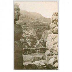 carte postale ancienne 04 ENTREVAUX. Pont sur le Var et gorges Chalvagne. Cpa Photo Cpsm dentelée