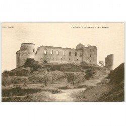 carte postale ancienne 04 GREOUX-LES-BAINS. Le Château