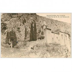 carte postale ancienne 04 MOUSTIERS-SAINTE-MARIE. Chapelle N-D de Beauvoir
