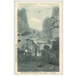 carte postale ancienne 04 MOUSTIERS-SAINTE-MARIE. La Chaîne