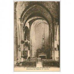 carte postale ancienne 04 MOUSTIERS-SAINTE-MARIE. L'Eglise intérieur