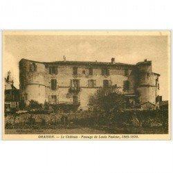 carte postale ancienne 04 ORAISON. Le Château, Passage de Louis Pasteur 1935