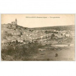 carte postale ancienne 04 REILLANNE. Le Village
