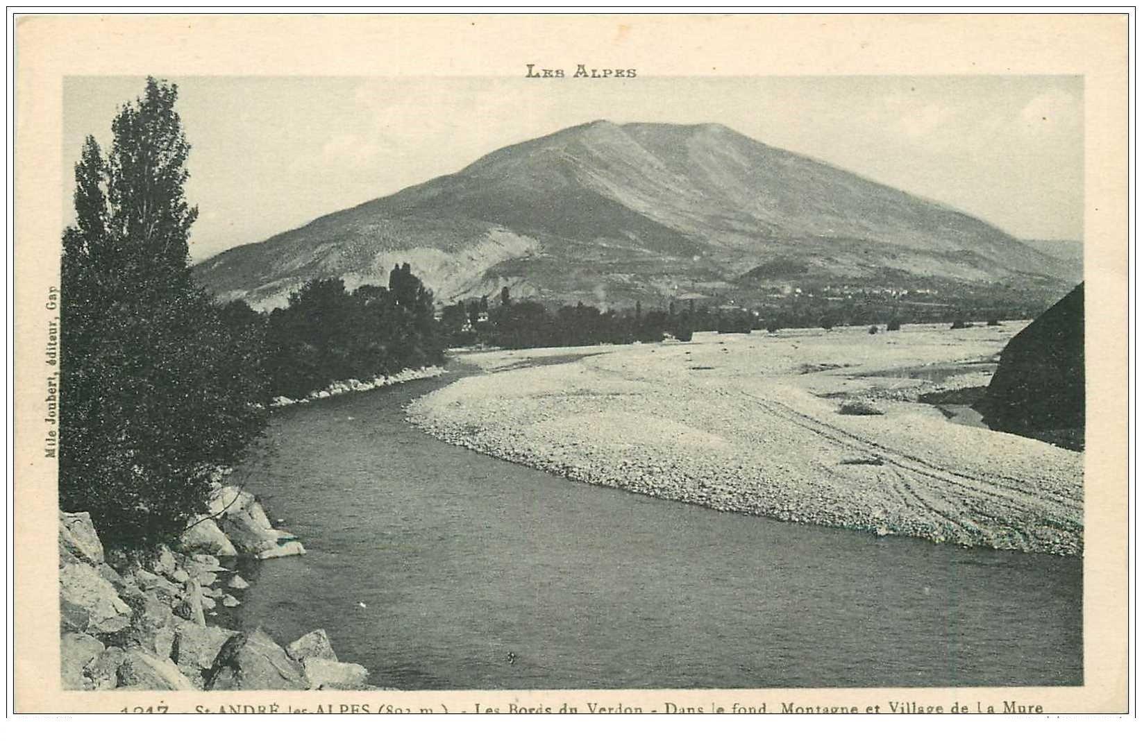 04 SAINT-ANDRE LES ALPES. Verdon, Village et Montagne de la Mure