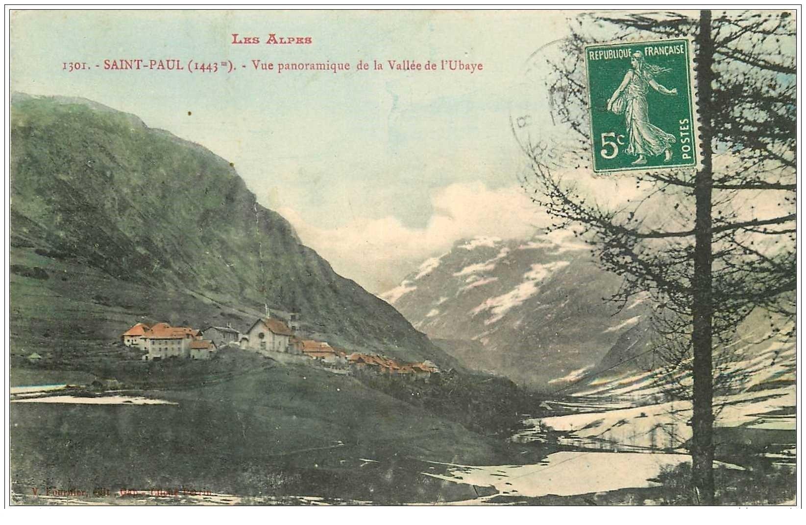 carte postale ancienne 04 SAINT-PAUL. Vallée de l'Ubaye
