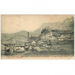 carte postale ancienne 04 SAINT-VINCENT. Fort Vauban et le Grand Morgon 1907 (pli coin droit)...