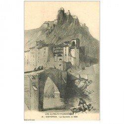 carte postale ancienne 04 SISTERON. La Gardette en 1828