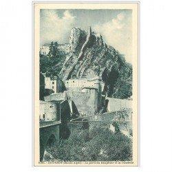 carte postale ancienne 04 SISTERON. Porte du Dauphiné et Citadelle
