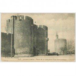 carte postale ancienne 30 AIGUES-MORTES. Porte de la Gardette 1914