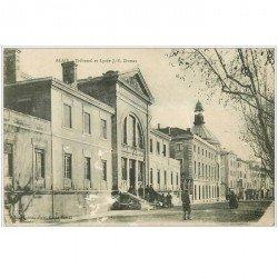 carte postale ancienne 30 ALAIS ou ALES. Tribunal et Lycée Dumas. Qq blancs....