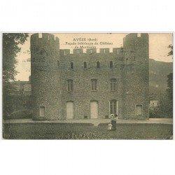 carte postale ancienne 30 AVEZE. Château de Montcalm animé 1923