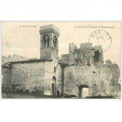 carte postale ancienne 30 BEAUCAIRE. Château de Montmorency Chapelle 1915 avec Gardien