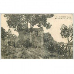 carte postale ancienne 30 GUALLARGUES. Moulin de Vendran 1914 personnages assis