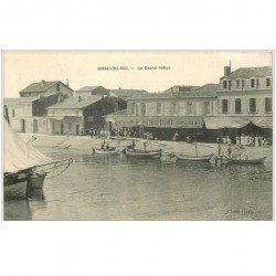carte postale ancienne 30 LE GRAU-DU-ROI. Le Grand Hôtel 1909
