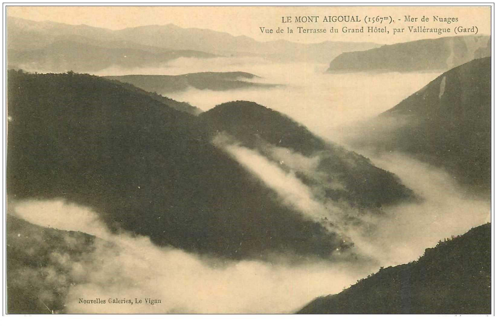 carte postale ancienne 30 LE MONT AIGOUAL. Mer de Nuages
