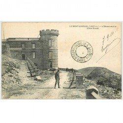 carte postale ancienne 30 LE MONT-AIGOUAL. L'Observatoire 1910