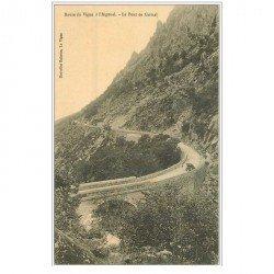 carte postale ancienne 30 LE PONT DE GRIMAL. Route du Vigan à l'Aigoual