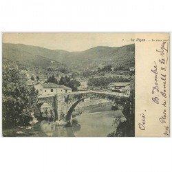 carte postale ancienne 30 LE VIGAN. Le Vieux Pont vers 1907
