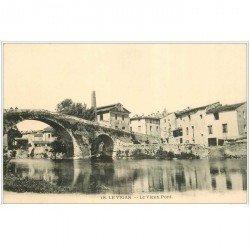 carte postale ancienne 30 LE VIGAN. VIEUX pont