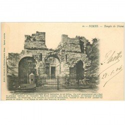 carte postale ancienne 30 NIMES. 1904 Temple de Diane