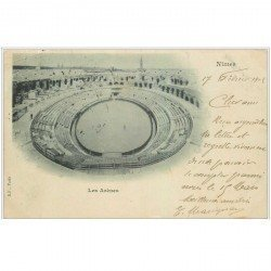 carte postale ancienne 30 NIMES. Arènes 1902