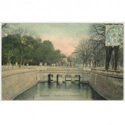 carte postale ancienne 30 NIMES. Canal de la Fontaine 1906