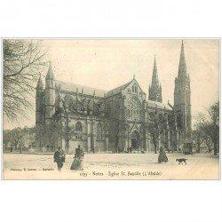 carte postale ancienne 30 NIMES. Eglise Saint-Baudile Abside 1907