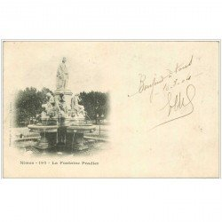 carte postale ancienne 30 NIMES. Fontaine Pradier 1904