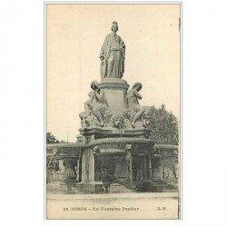 carte postale ancienne 30 NIMES. Fontaine Pradier 28
