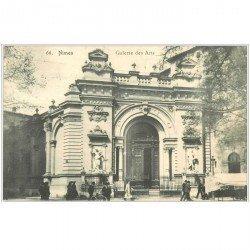 carte postale ancienne 30 NIMES. Galerie des Arts 1907