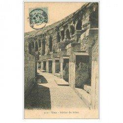 carte postale ancienne 30 NIMES. Intérieur des Arènes 1905