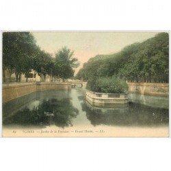 carte postale ancienne 30 NIMES. Jardin de la Fontaine Grand Bassin 1904