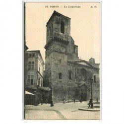 carte postale ancienne 30 NIMES. La Cathédrale