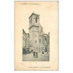 carte postale ancienne 30 NIMES. La Cathédrale 1905