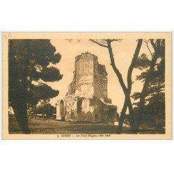 carte postale ancienne 30 NIMES. La Tour Magne