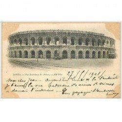 carte postale ancienne 30 NIMES. Les Arènes 1901