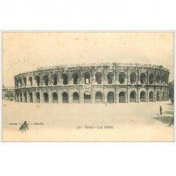 carte postale ancienne 30 NIMES. Les Arènes 1906