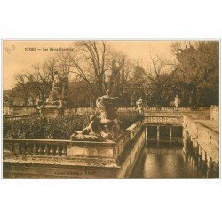 carte postale ancienne 30 NIMES. Les Bains Romains