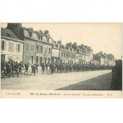 carte postale ancienne 80 AMIENS. Troupe allemandes Soldats Guerre 1914-18