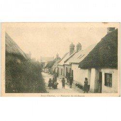 carte postale ancienne 80 AULT ONIVAL. Maisons de Pêcheurs