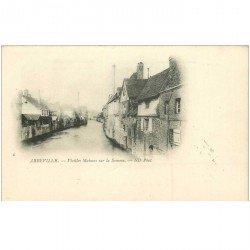 carte postale ancienne 80 ABBEVILLE. Carte pionnière vers 1900 Vieilles Maisons sur la Somme