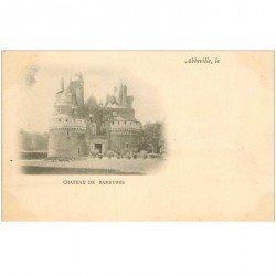 carte postale ancienne 80 ABBEVILLE. Château de Rambures. Verso décollé d'un feuillet
