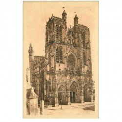carte postale ancienne 80 ABBEVILLE. Eglise Saint-Sulfran 1933